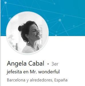 foto de Ángela Cabal, jefesita de Mr Wonderful