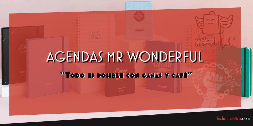 Las agendas Mr Wonderful